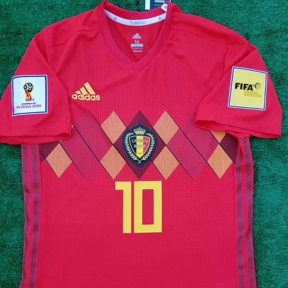 11da21fd6 2018 Belgium soccer jersey Hazard size M